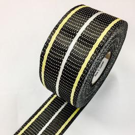 Carbon / Kevlar / Glass Uni Tape 200g/m2 65mm