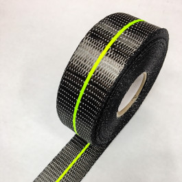 Carbon Uni Tape Twin Band Lime 200g/m2 45mm  **On Sale**