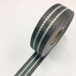 Carbon / Eglass Uni Tape Green Tracer 225g/m2 40mm