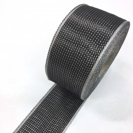 Carbon / Eglass Hybrid Woven Tape 155g/m2 80mm Black Poly Weft **On Sale**