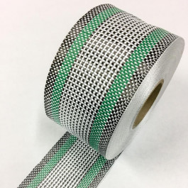 Carbon / Eglass Hybrid Tape Green Band 168g/m2 75mm  **On Sale**