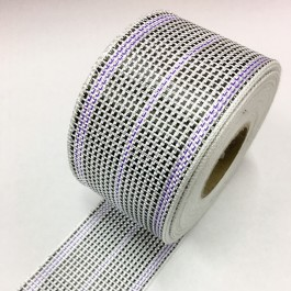 Carbon / Eglass Hybrid Woven Tape 175g/m2 75mm Purple Tracer  **On Sale**