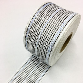 Carbon / Eglass Hybrid Woven Tape 180g/m2 80mm Isacord Blue Tracer  **On Sale**