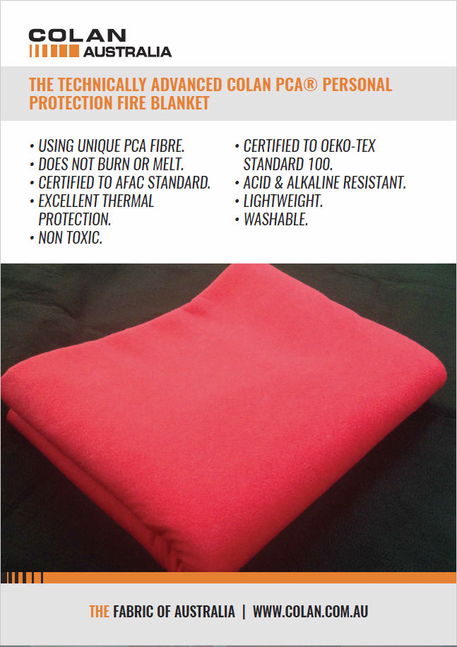 PCA Fire Blanket Brochure
