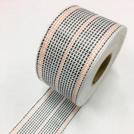 Carbon / Eglass Hybrid Woven Tape 175g/m2 80mm Orange Tracer  **On Sale**