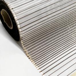 """Fibreglass Woven Fabric Plain 5oz x 16"""" Basalt Weft Gradient"""